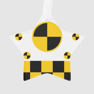 Vibrant Crash Test Markers Ornament