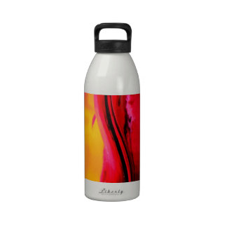 VIBRANT CURVES ABSTRACT DESIGN DRINKING BOTTLES