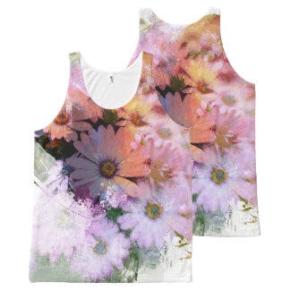 Vibrant Daisy Abstract All-Over-Print Tank Top