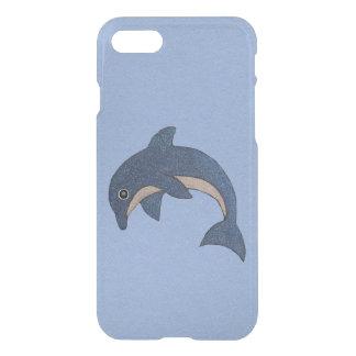 Vibrant Dark Blue Dolphin White Sparkles on Blue iPhone 7 Case