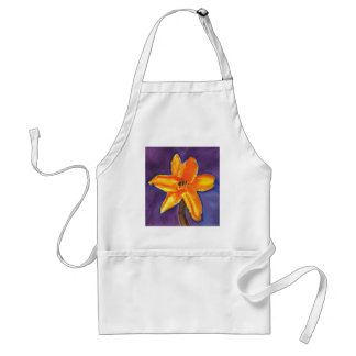 Vibrant Day Lily Adult Apron