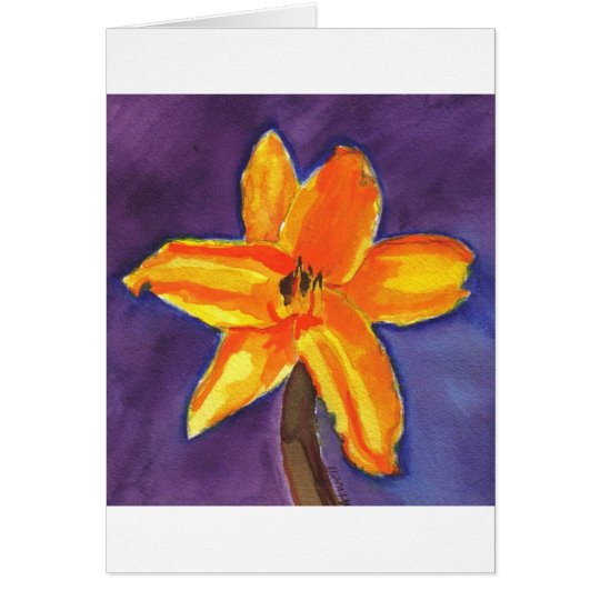 Vibrant Day Lily Card