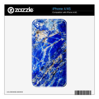 Vibrant Deep Blue Mineral Stone Decals For The iPhone 4S