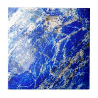 Vibrant Deep Blue Mineral Stone Tile