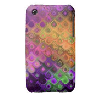 Vibrant Diagonal Teardrops in Purple & Asst Colors iPhone 3 Cover