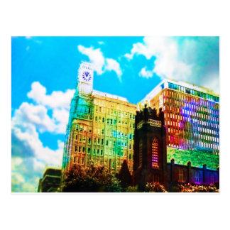 vibrant downtown postcard