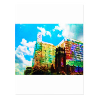 vibrant downtown postcard