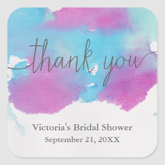 Vibrant Dreams Bridal Shower Thank You Sticker
