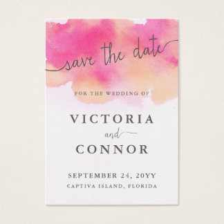 Vibrant Dreams Save the Date Cards   Pink Peach