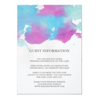 Vibrant Dreams Wedding Insert Card
