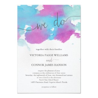 Vibrant Dreams Wedding Invitation