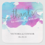 Vibrant Dreams Wedding Thank You Favor Stickers