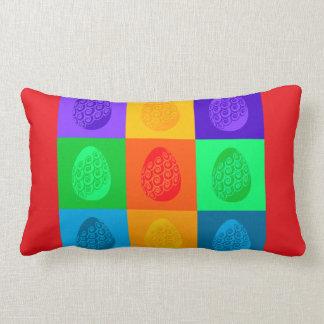 Vibrant Easter Design on Lumbar Throw Pillow
