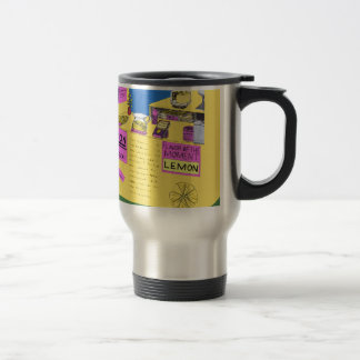 Vibrant, Elaborate Illustration Of Lemonade Stand Travel Mug