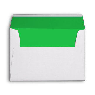 Vibrant Emerald Green Lined Envelope