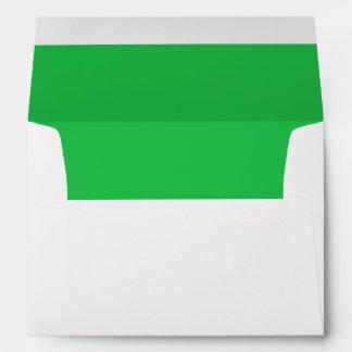 Vibrant Emerald Green Lined Envelope