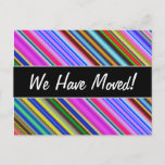 [ Thumbnail: Vibrant & Eyecatching Multicolored Stripes Pattern Postcard ]