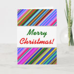 [ Thumbnail: Vibrant & Eyecatching Multicolored Stripes Pattern Card ]