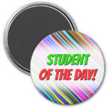 [ Thumbnail: Vibrant & Eyecatching Multicolored Stripes Pattern Magnet ]
