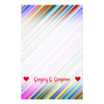 [ Thumbnail: Vibrant & Eyecatching Multicolored Stripes Pattern Stationery ]