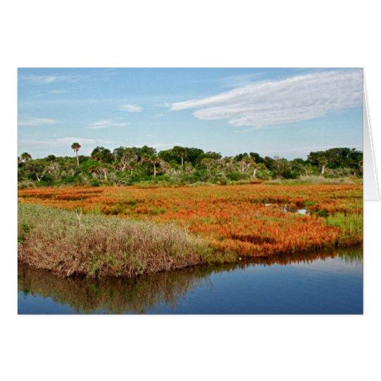 Vibrant Fall Marsh, Florida Card