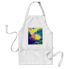 Vibrant Festive Multi-Color Abstract Pattern Adult Apron