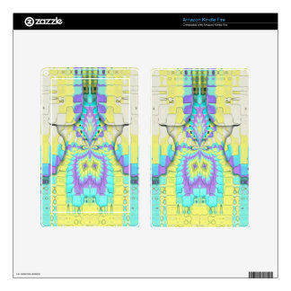 Vibrant Festive Neon Pastel Abstract  Pattern Decals For Kindle Fire