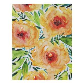 Vibrant Floral Art Faux Canvas Print