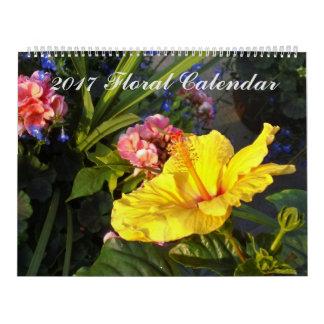 Vibrant Floral Calendar 2017