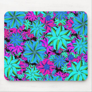 Vibrant Floral Collage Mouse Pad