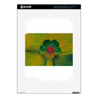 Vibrant floral design decal for iPad 3