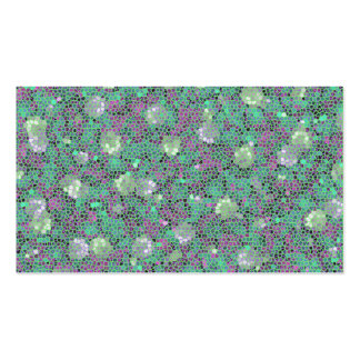 Vibrant Floral Mosaic Trendy Colorful Pattern Art Business Card Templates