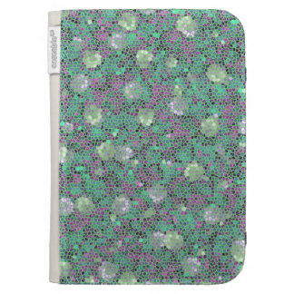 Vibrant Floral Mosaic Trendy Colorful Pattern Art Kindle Keyboard Covers