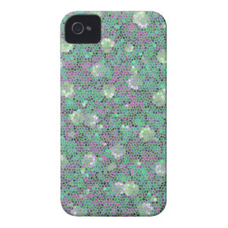 Vibrant Floral Mosaic Trendy Colorful Pattern Art Case-Mate iPhone 4 Case