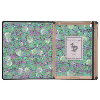 Vibrant Floral Mosaic Trendy Colorful Pattern Art Cases For iPad