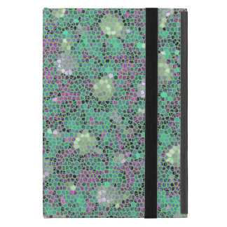 Vibrant Floral Mosaic Trendy Colorful Pattern Art iPad Mini Covers