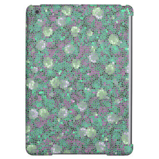 Vibrant Floral Mosaic Trendy Colorful Pattern Art Cover For iPad Air