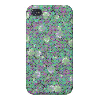 Vibrant Floral Mosaic Trendy Colorful Pattern Art iPhone 4/4S Cover