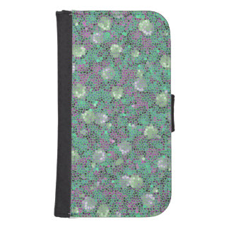 Vibrant Floral Mosaic Trendy Colorful Pattern Art Galaxy S4 Wallets