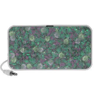 Vibrant Floral Mosaic Trendy Colorful Pattern Art Laptop Speakers
