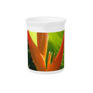 Vibrant floral pitcher