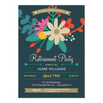 Vibrant Floral Retirement Party Invitation