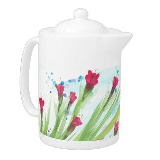 Vibrant Floral Teapot