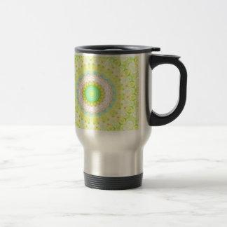 Vibrant Flourescent Pastel Vibrant Mandala Travel Mug