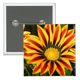 Vibrant flower 2 inch square button