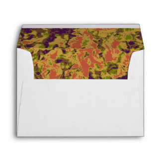 Vibrant flower camouflage pattern envelope