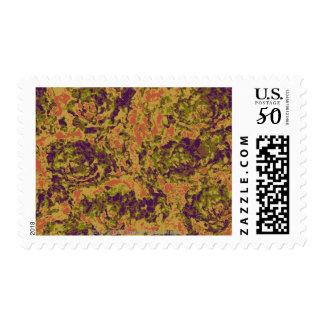 Vibrant flower camouflage pattern postage