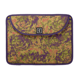 Vibrant flower camouflage pattern sleeve for MacBook pro