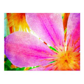 Vibrant Flower Postcard Horizontal Template