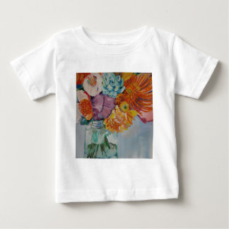 Vibrant flowers baby T-Shirt